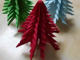 一步步折纸圣诞树的步骤图解