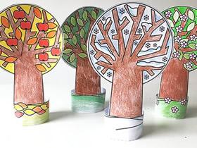 用卡纸做四季大树的方法