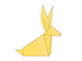 简单纸兔子的折法图解