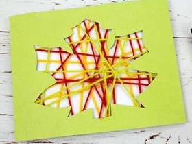 简单又有创意的树叶贺卡制作方法