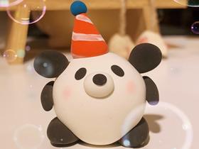 粘土大熊猫的制作方法图解