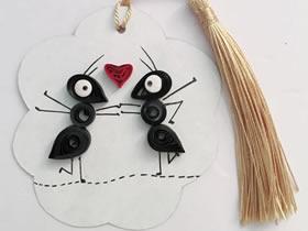 用衍纸蚂蚁做情人节礼物的方法