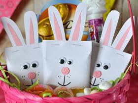 用卡纸做兔子糖果袋的方法