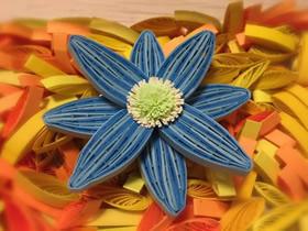 八瓣衍纸花的制作方法图解