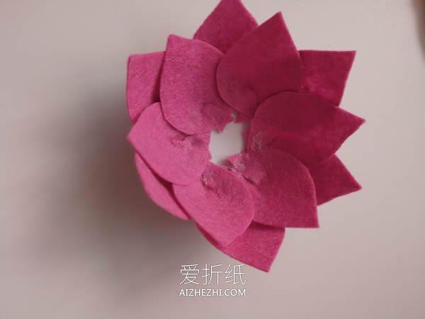 不织布莲花的制作方法图解- www.aizhezhi.com