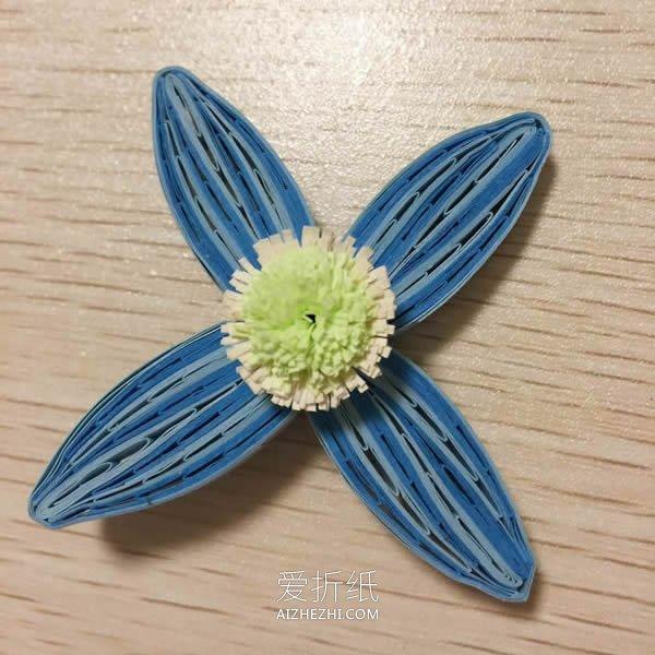八瓣衍纸花的制作方法图解- www.aizhezhi.com