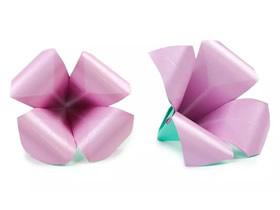 折纸百合花的步骤图解