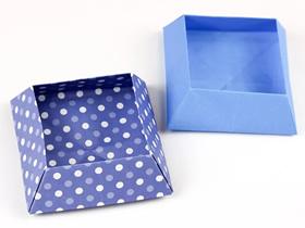 方形收纳盒的折叠步骤图解