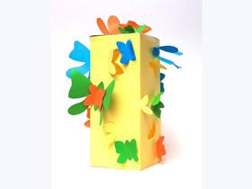 用卡纸做蝴蝶灯笼的方法