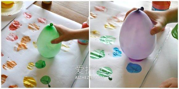 气球印画可爱小鸡的方法- www.aizhezhi.com