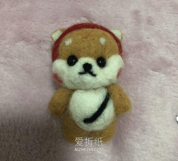 卡通羊毛毡狗狗的制作方法图解- www.aizhezhi.com