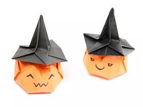 折纸女巫帽的方法图解