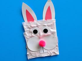 用信封做兔子手偶的方法