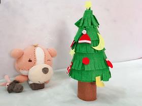 迷你布艺圣诞树的制作方法