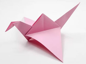 可以拍动翅膀的小鸟折纸图解