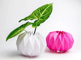 折纸花盆套的步骤图解