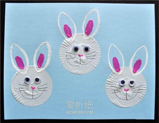兔子图案中秋节贺卡的做法- www.aizhezhi.com