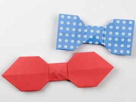 简单领结的折纸方法图解