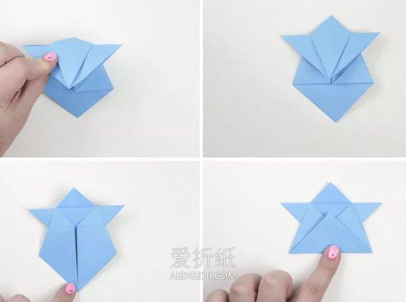 卡通风格相扑选手的折法图解- www.aizhezhi.com