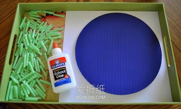 地球日用硬纸板和吸管做地球的方法- www.aizhezhi.com
