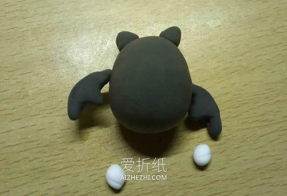 万圣节粘土蝙蝠的制作方法- www.aizhezhi.com