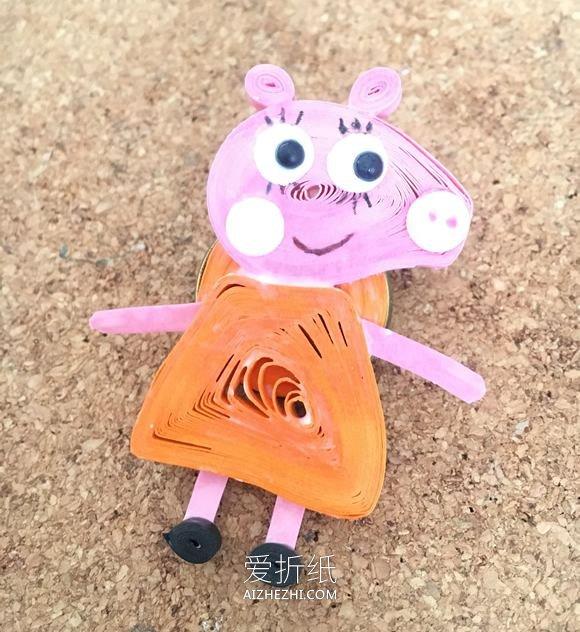衍纸小猪佩奇胸针的制作方法- www.aizhezhi.com