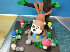 用粘土做猴子捞月的方法教程