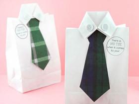 超有趣父亲节礼品袋礼物的制作方法