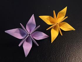 简单四瓣花的折纸图解教程