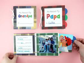 用纸袋做父亲节礼物书的方法