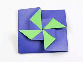 风车信封的折纸步骤图解