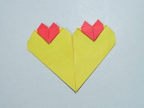 折纸心连心的图解教程