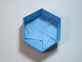 折纸六角形礼品盒的步骤图解
