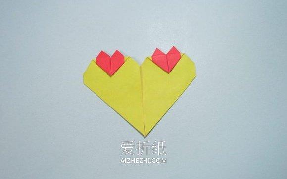 折纸心连心的图解教程- www.aizhezhi.com