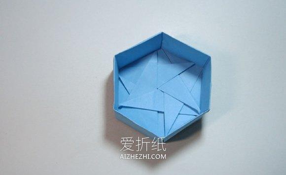 折纸六角形礼品盒的步骤图解- www.aizhezhi.com