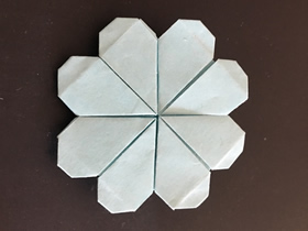 用四张纸折四叶草的折法图解
