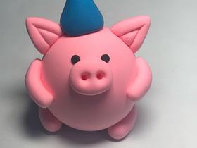 粘土小猪的制作方法