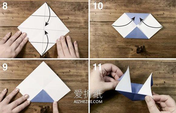 简单小帆船的折法图解- www.aizhezhi.com