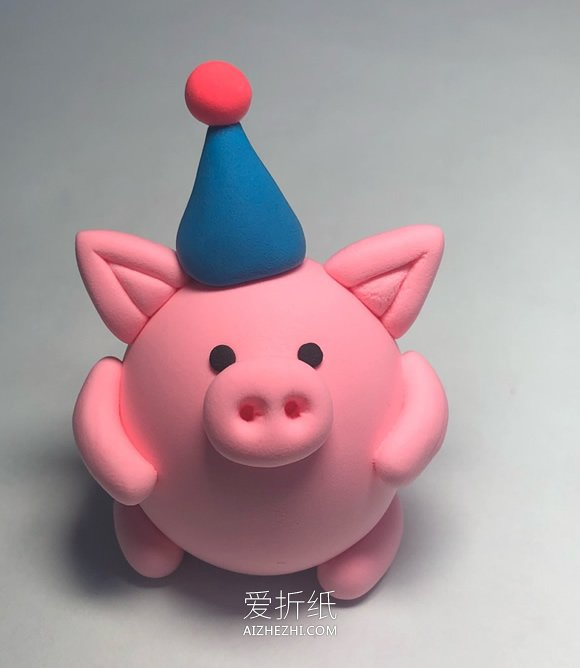 粘土小猪的制作方法- www.aizhezhi.com