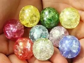 冰裂水晶弹珠饰品的制作教程