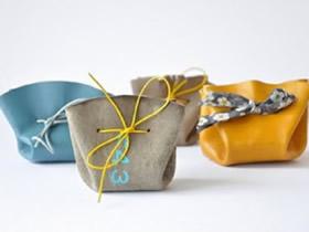 用仿真皮革做极简风格小包的方法