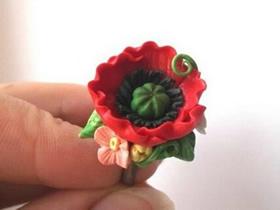 怎么用粘土做花戒的方法图解