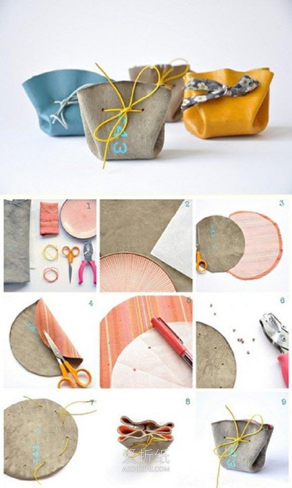 用仿真皮革做极简风格小包的方法- www.aizhezhi.com
