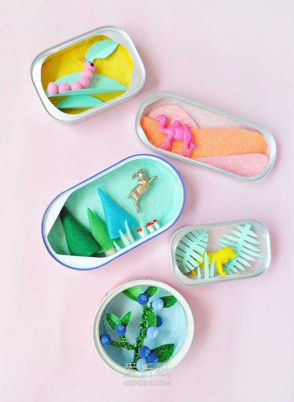 怎么用罐头瓶子做手工艺品的方法- www.aizhezhi.com