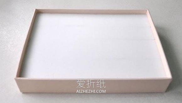 用纸盒盖子和海绵泡沫做戒指收纳的方法- www.aizhezhi.com