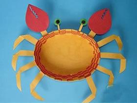 怎么用卡纸做立体螃蟹的方法图解