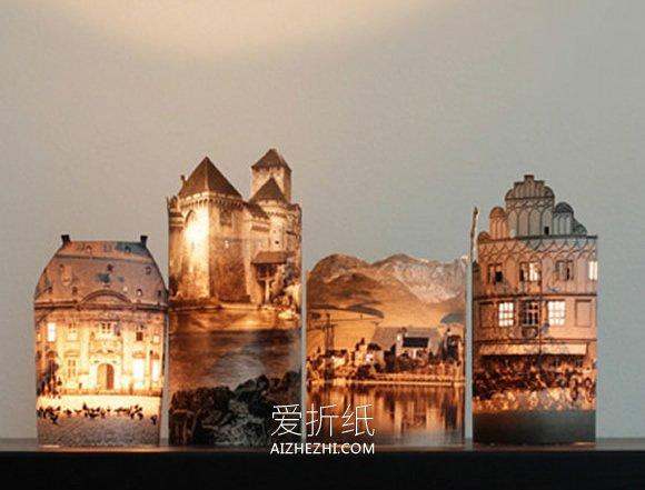 怎么用旧书做城堡烛台灯饰的方法- www.aizhezhi.com