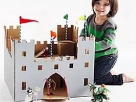 怎么用废弃纸箱做儿童玩具的创意作品图片