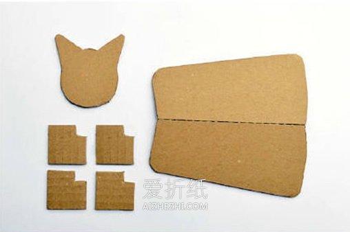 怎么用硬纸板做立体猫的方法- www.aizhezhi.com
