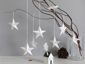 怎么简单折纸立体五角星作为圣诞节装饰